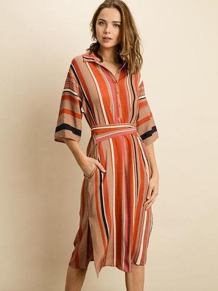 Neeko Sunrise Dress - STRIPED