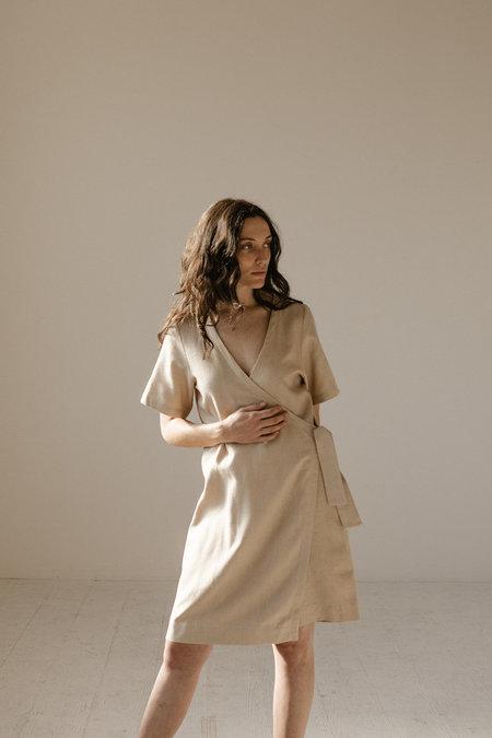 Open Air Museum Wrap Dress - Sand