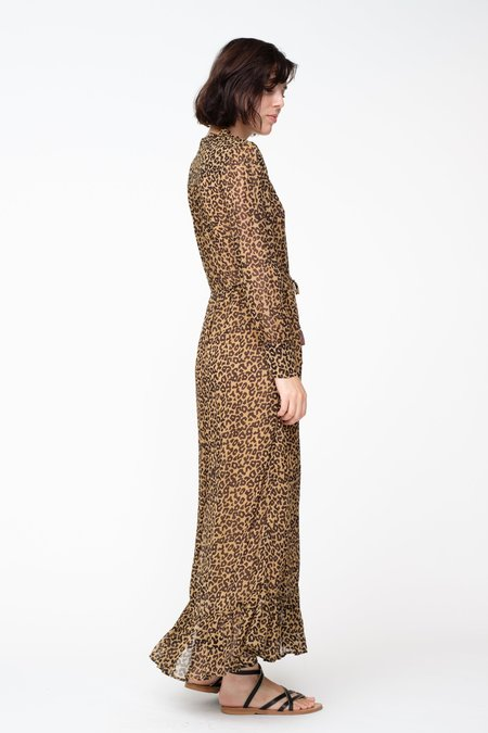 SEA Lottie Midi Dress - leopard