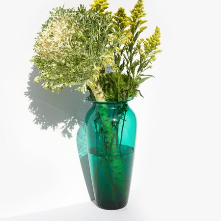 Found By Kindred Black Jungle Green Vase