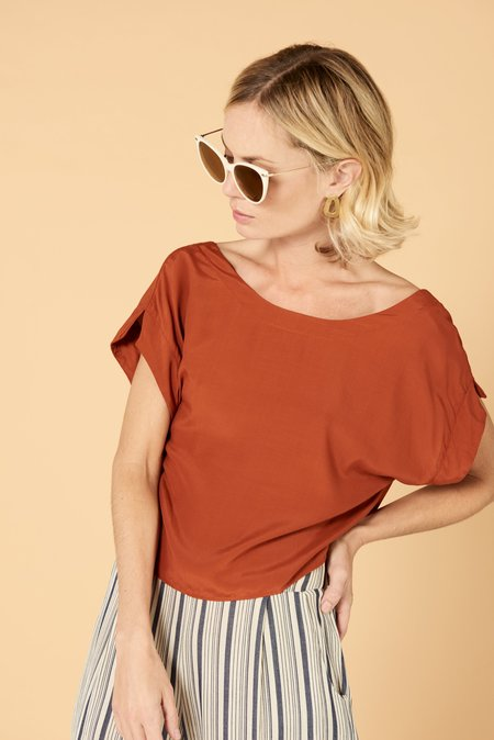 Whimsy & Row Lilah Crop - Sunset