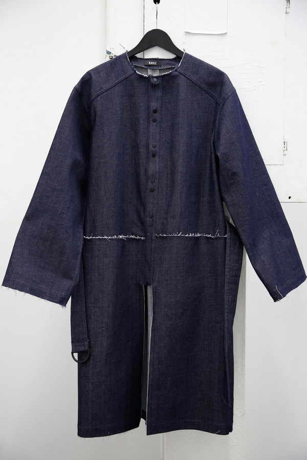 Kahle Denim Trench Coat