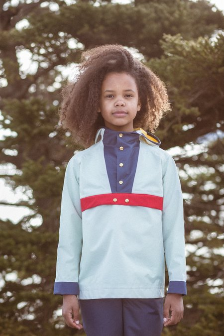Kids Faire Child Makewear Anorak - Mint Blue/Red