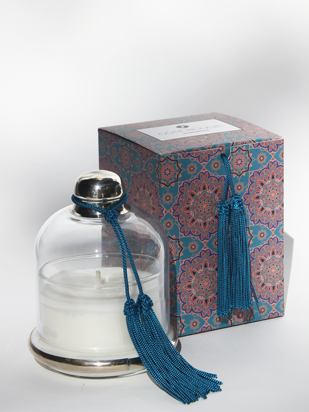 COTE BOUGIE Candle Cloche - Ble Paon Frangpanier