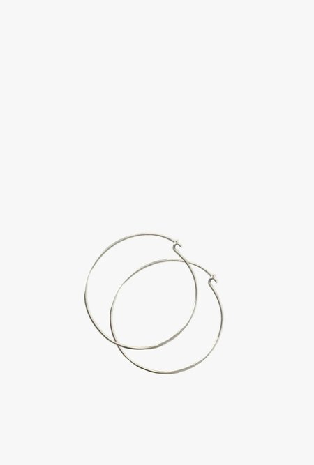 Tarin Thomas Janey Medium Hoop Earrings - Sterling Silver