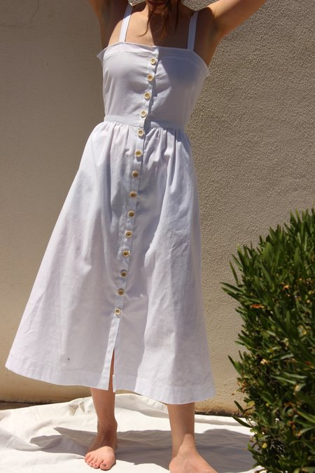 Avenue garden dress - white