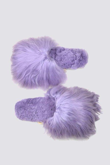 Ariana Bohling Alpaca Suri Slipper - Lavender