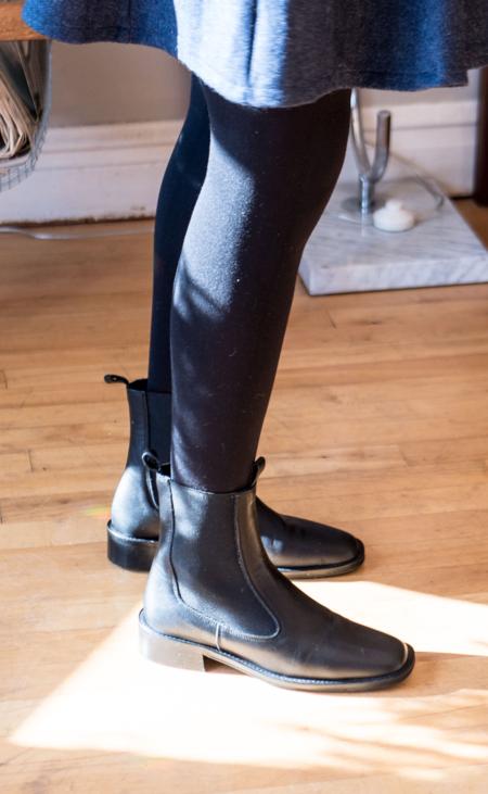 L'Intervalle Brighton Leather Boots - Black