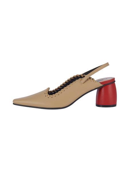 Reike Nen Curved Middle Slingback - Beige/Red