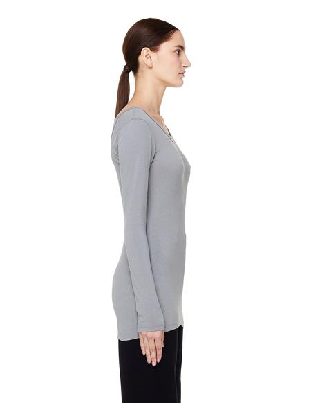 James Perse Cotton Long Sleeve T-Shirt - Light Grey