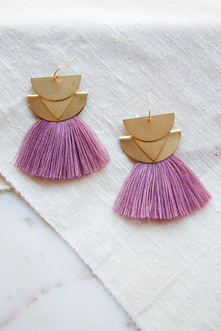 Sandy Hyun Diamond Canyon Earrings - Mauve