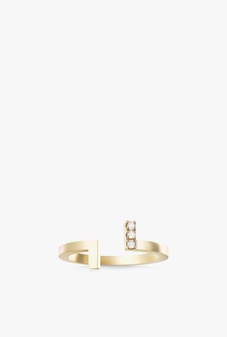 Selin Kent Koko Mini Ring - 14k Gold/White Diamond
