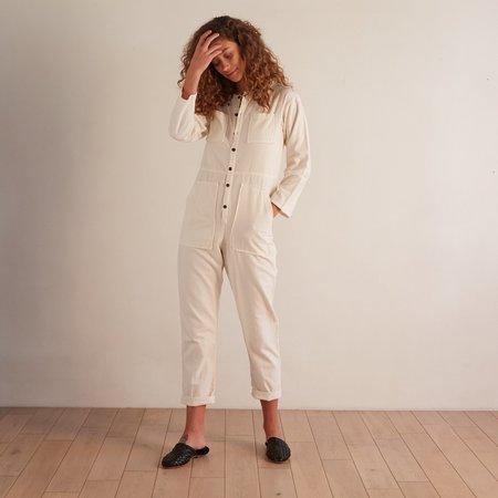 Nico Nico Chapman Flannel Jumpsuit - Ecru