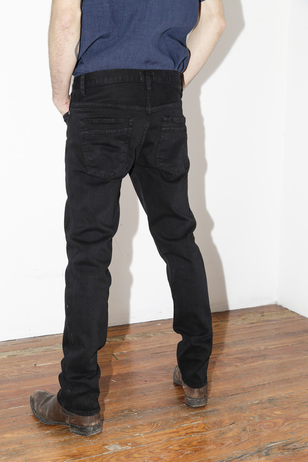 Men's Robert Geller Black Straight RG3 Jean