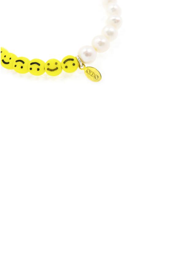 Nektar de Stagni Smiley Face & Pearl Bracelet