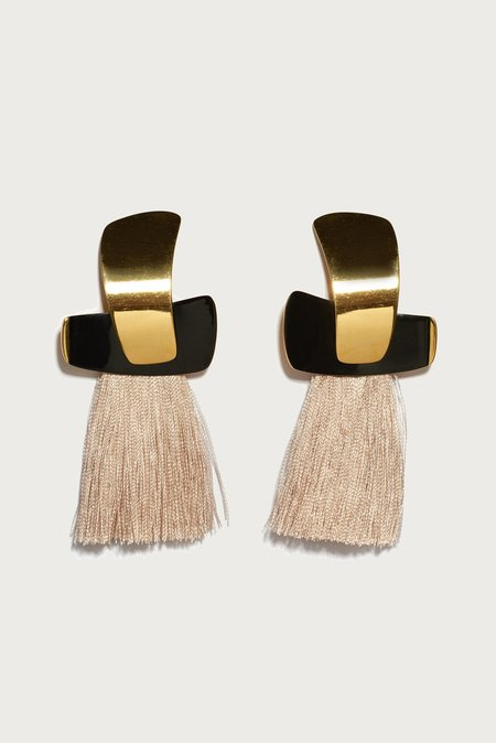 Lizzie Fortunato Totem Tassel Earrings - Blush