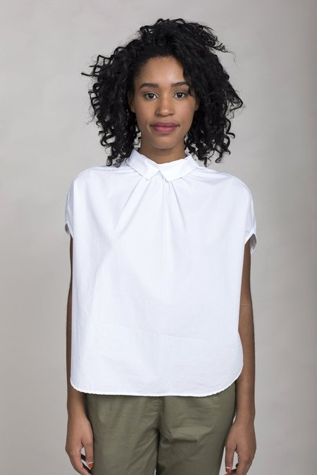 Gallego Desportes Sleeveless Button Back Shirt - White