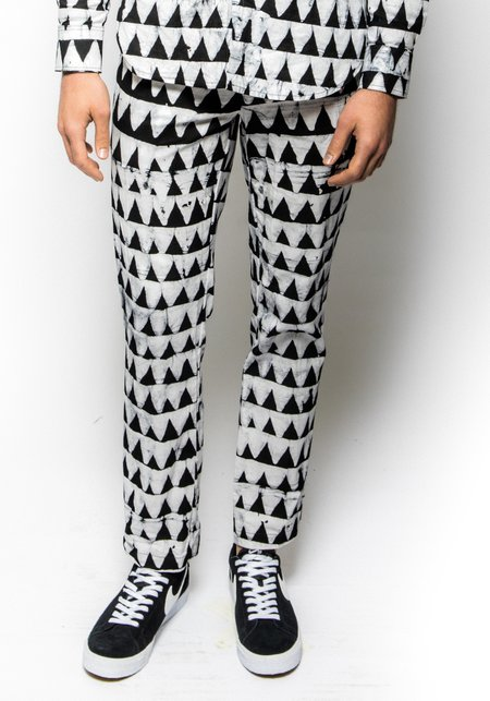 Unisex Studio One Eighty Nine Mini Jazzy Jeff Hand-Batik Cotton Andy Pants - Black/White