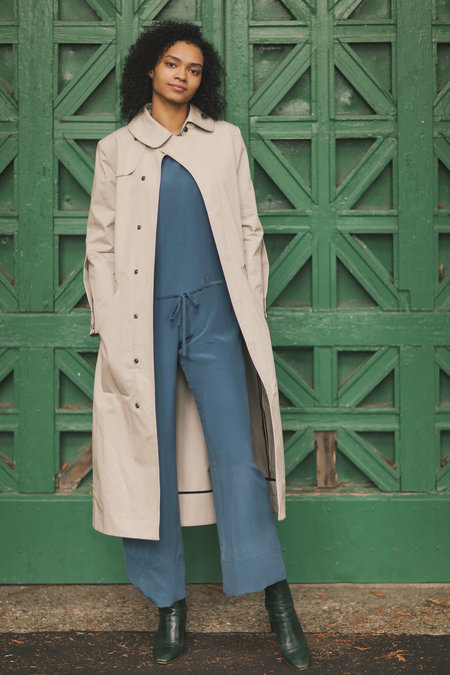 VEJAS OVULAR CUTOUT TRENCH COAT