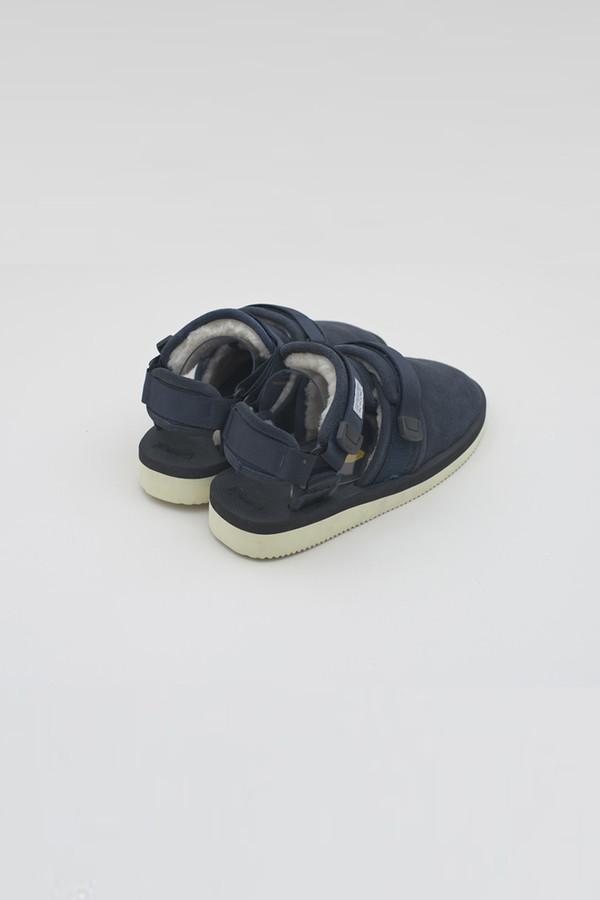 Men's Suicoke Navy Shearling Sandal