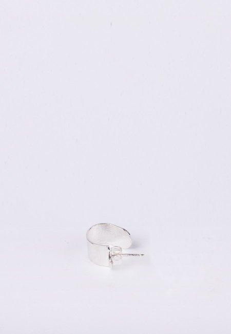 Newend Tube Sleeper Single Earring - Silver