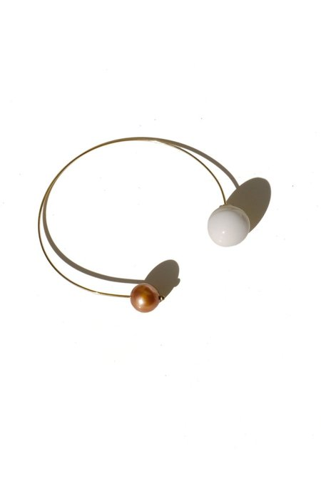 Jujumade Pearl Loop Earring - Gold