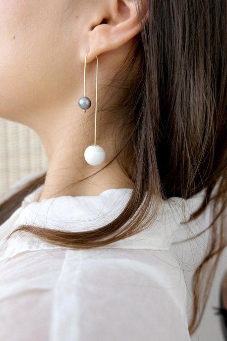 Jujumade Pearl Post Earring - Gold