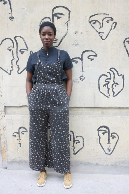 Loup Kate Overalls - Black Floral