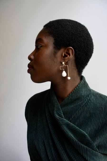 Jujumade Maze Earrings - Gold
