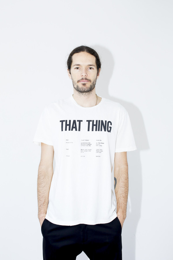 Unisex Gentlemen's Bet White That Thing T-Shirt