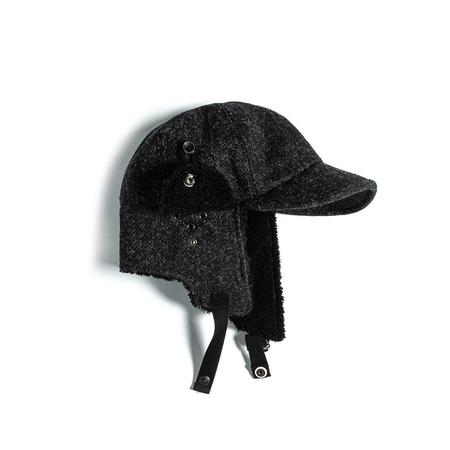 Eastlogue Bomber Hat - Black/Charcoal Herringbone
