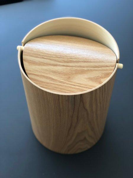 Saito Wood Waste Basket - Ash