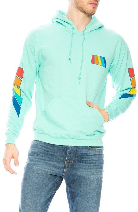 Free & Easy Rainbow Hoodie - Mint