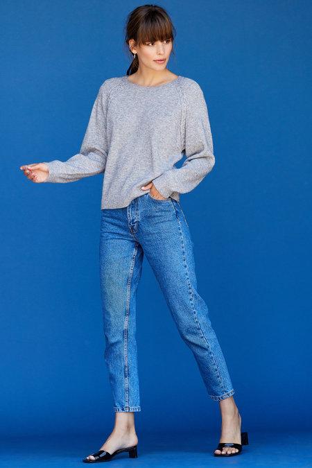 Lotte Raglan Sweater - Heather Grey