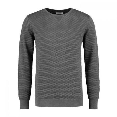 Dstrezzed Crew Pineapple Knit Pullover - Grey Melange