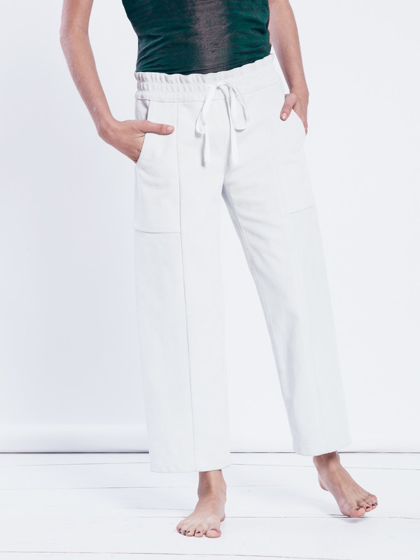 Nikki Chasin Heavy Suede Patch Pant