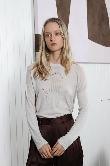 Raquel Allegra Seven Chakra Tee - Dirty Grey