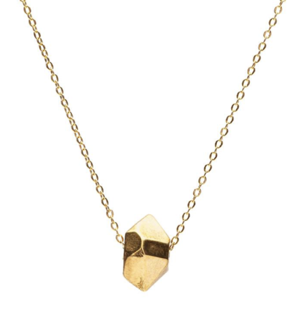 Angela Monaco Cast Crystal Necklace with Sliding Charm - Gold