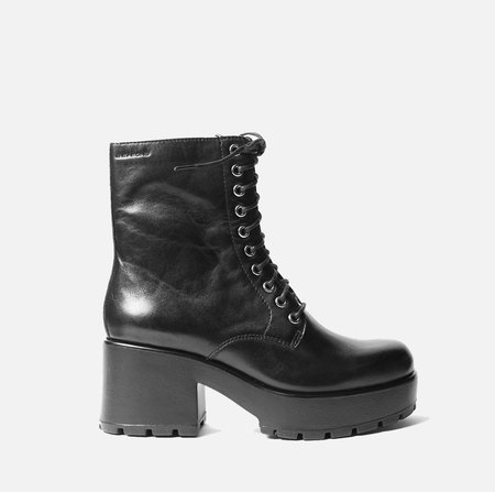 Vagabond Dioon Mid Lace Boot - Black