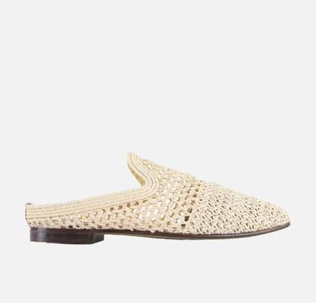 Silent D Mooni Raffia Slide - Natural