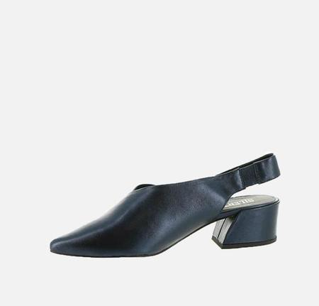Silent D One Night Leather Shoe - Metallic Navy