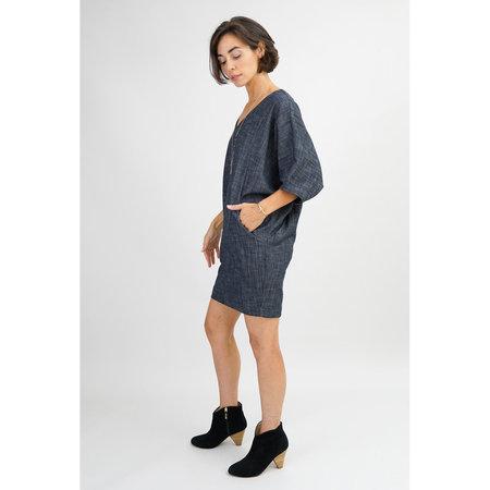 Amy Kuschel Wedge Dress - Denim Blue