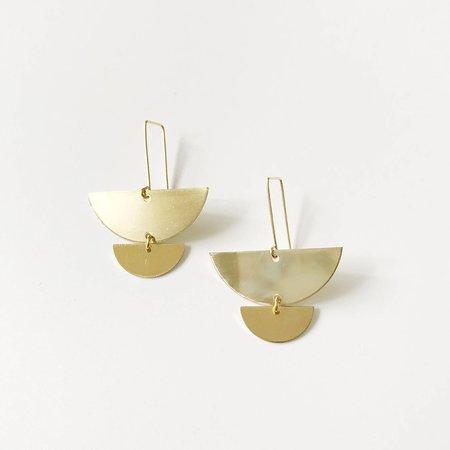 Pegs Hardware Hira Earrings - Brass