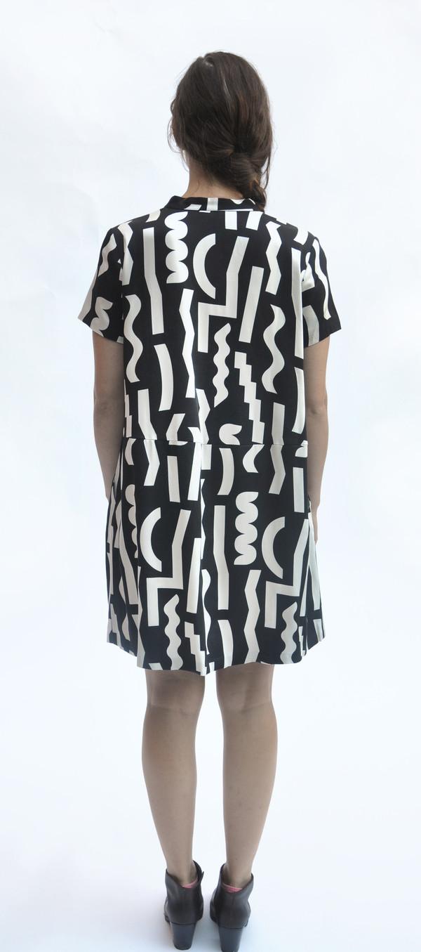 Dusen Dusen Black Slash Oversize Tee Dress