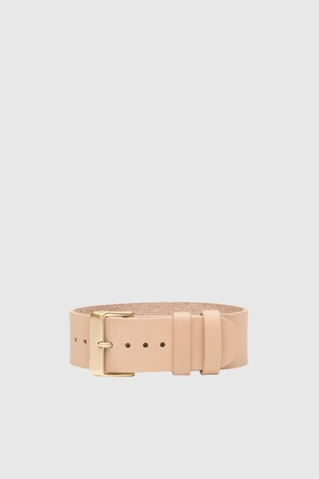 Unisex TID Watches Natural Leather Wristband - Gold