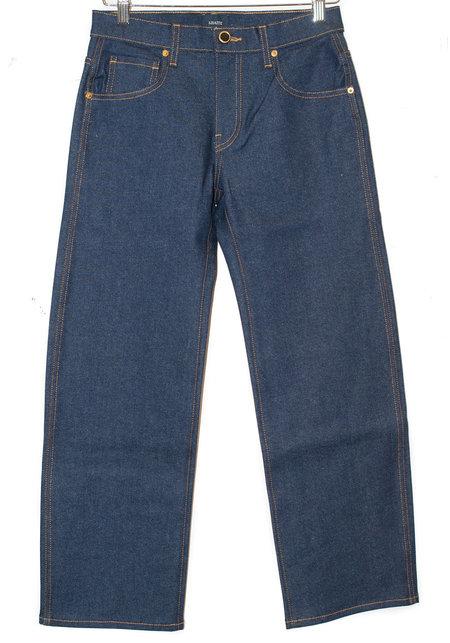 Khaite Wendell Cropped Wide Leg Denim - Vintage Blue