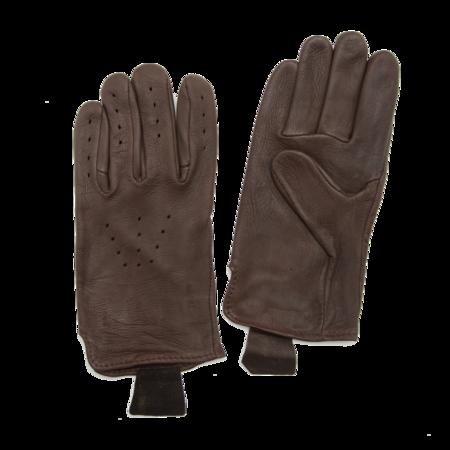 Unisex Geier Glove Deerskin Driving Gloves - Brown
