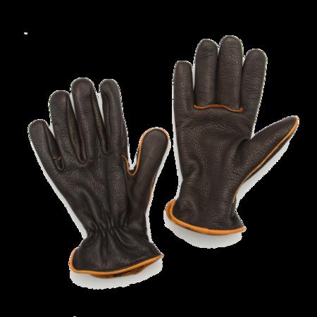 Unisex Geier Glove Light Lined Deerskin Work Glove - Black