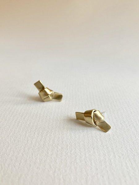 8.6.4 knot earrings - Brass