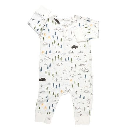 KIDS Red Caribou Organic Basic Jumpsuit - Eco-White